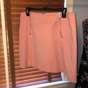 Pink mini skirt - Loft size 14